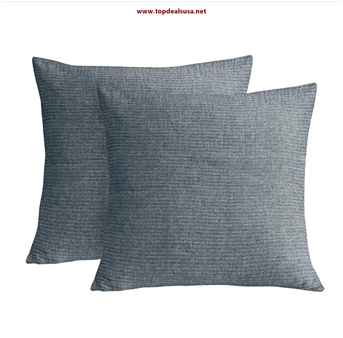 Cotton Pack of 2 Throw Pillow Cover Yarn