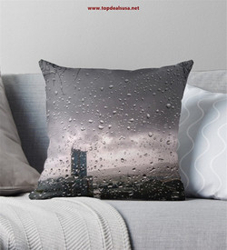 Weeping City Throw Pillow