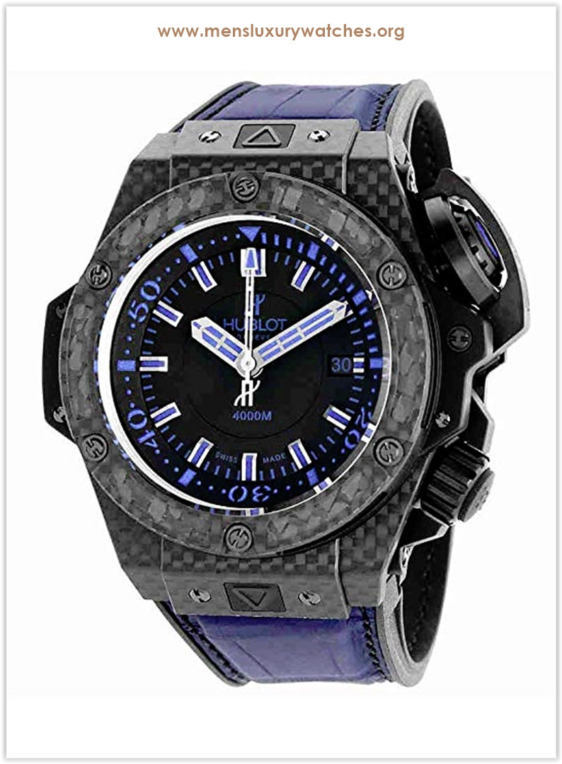 Hublot King Power Oceanographic Black Dial Blue Rubber Men's Watch Price