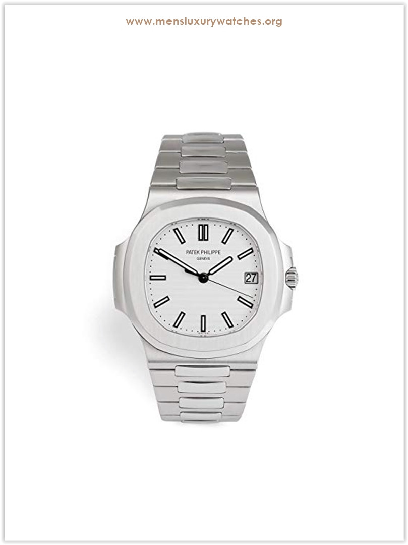 Patek Philippe Nautilus Mechanical Silver Dial Men's Watch