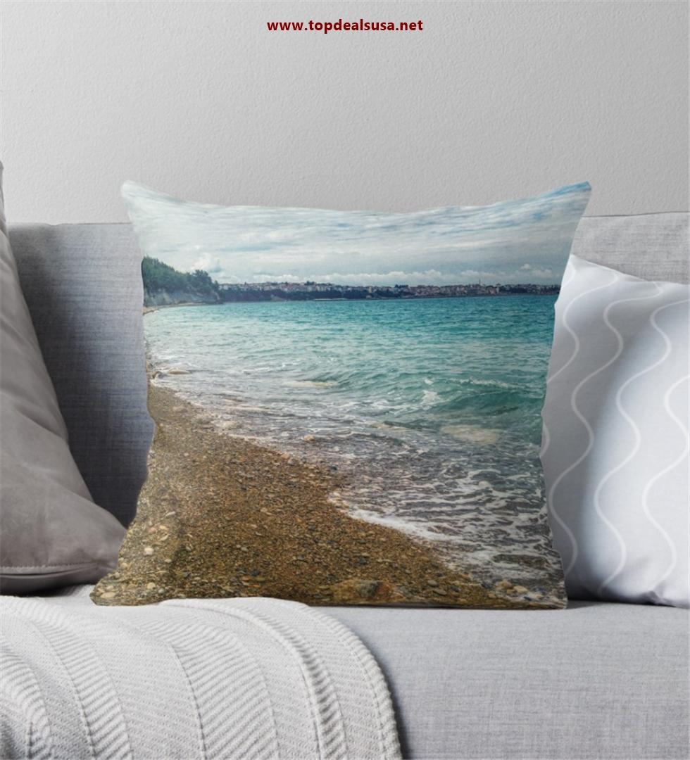 Amazing Beach Throw Pillow