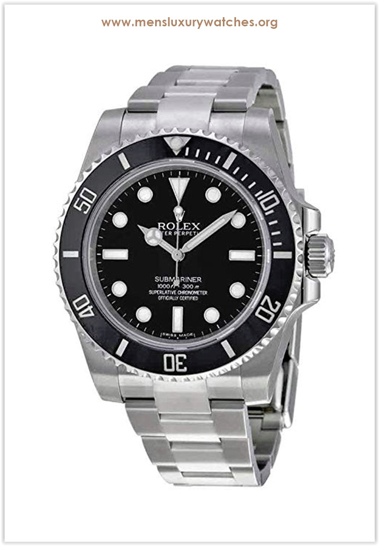 Rolex Submariner Black Dial Stainless Steel Automatic Men's Watch Price