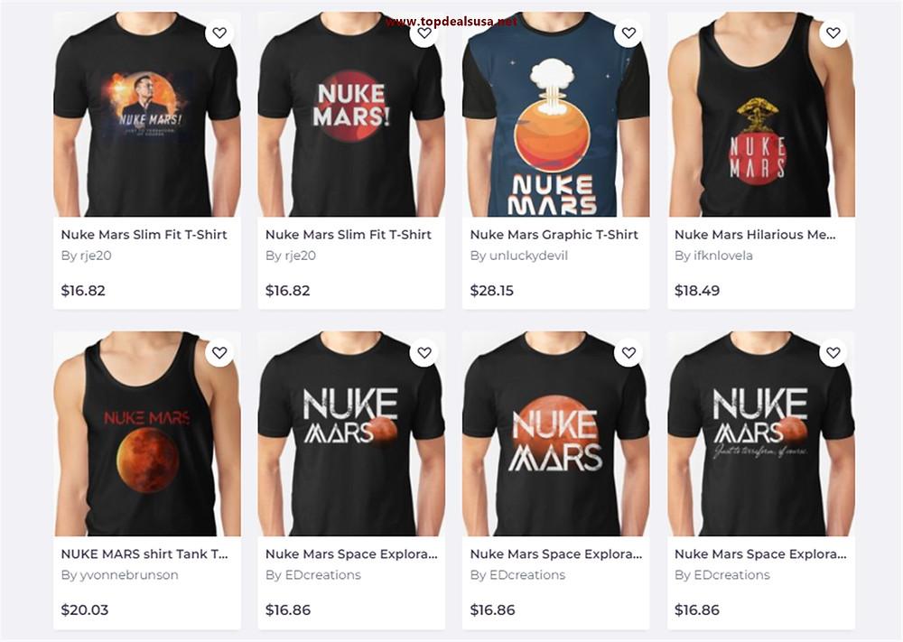 Nuke Mars T-Shirt & All Items Buy Online