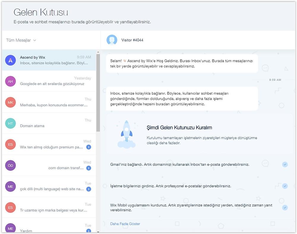 Wix Ascend ile web site ve sosyal medya mesajlarını tek bir alandan yanıtlayın