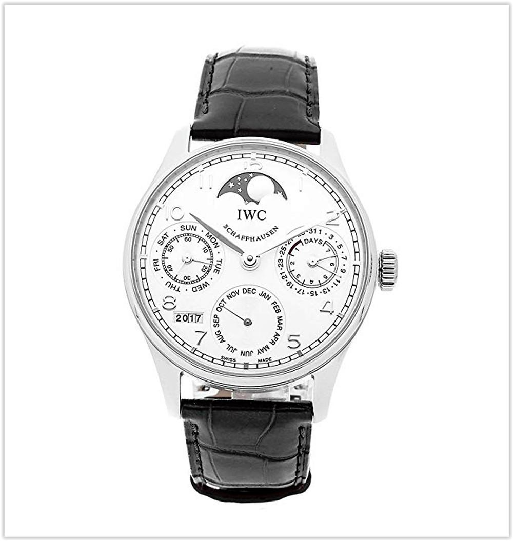 IWC Portugieser Mechanical Silver Dial Men's Watch best price