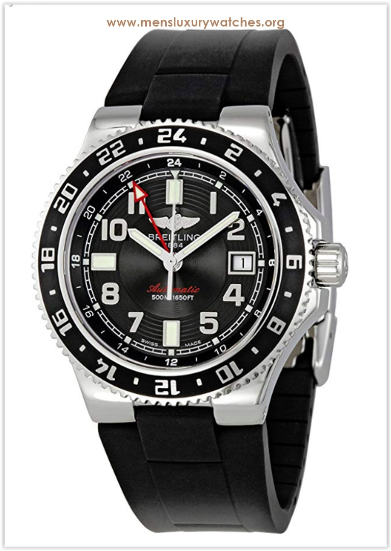 Breitling Black Dial Superocean GMT Men's Watch Price