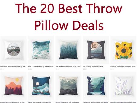 Top 20 Throw Pillow Deals