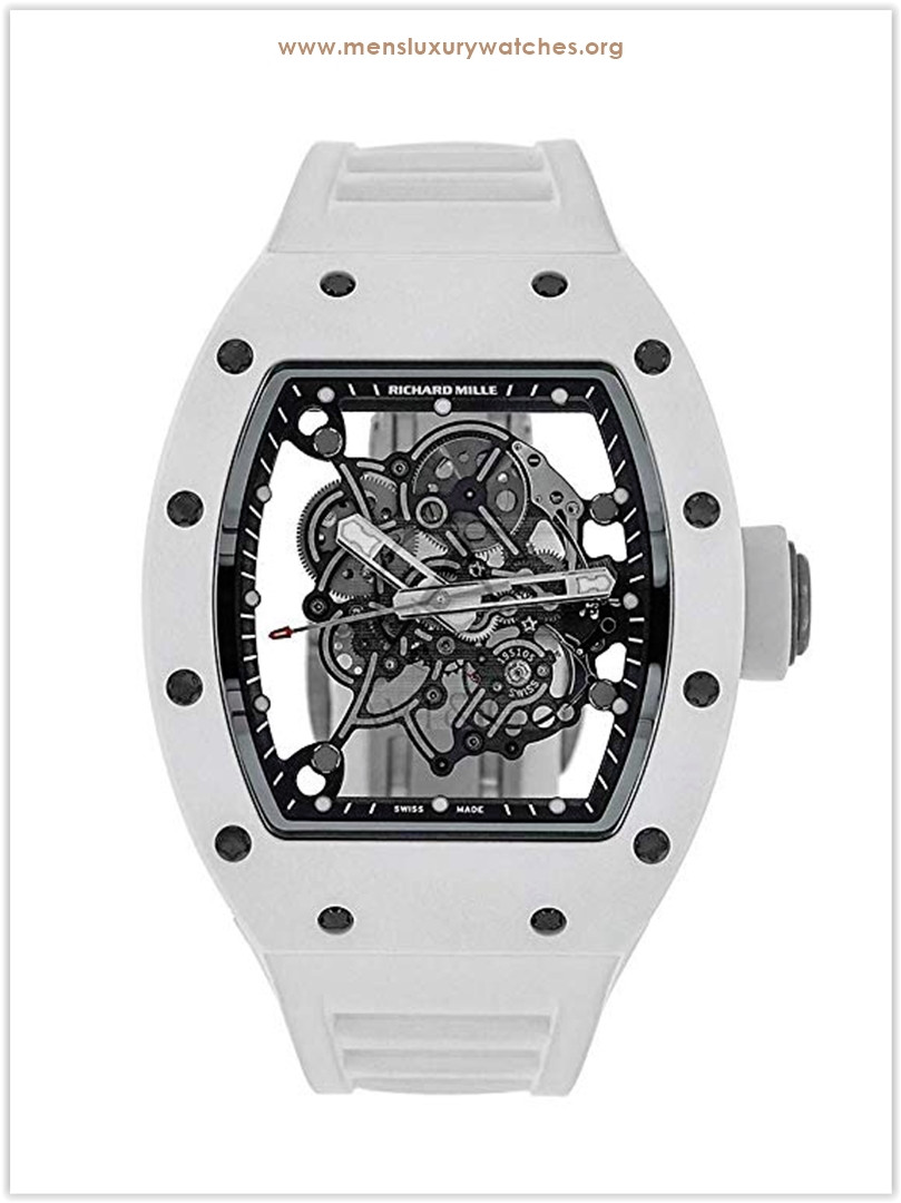Richard Mille RM055 Bubba Watson 49MM White & Titanium Men's Watch
