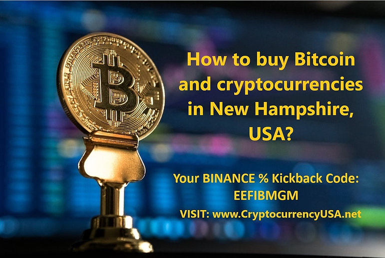 How to buy Bitcoin and cryptocurrencies in New Hampshire, USA?