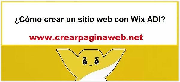 cómo crear un sitio web con Wix ADI