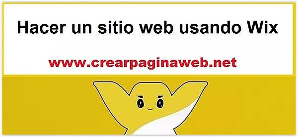 Hacer un sitio web usando con Wix