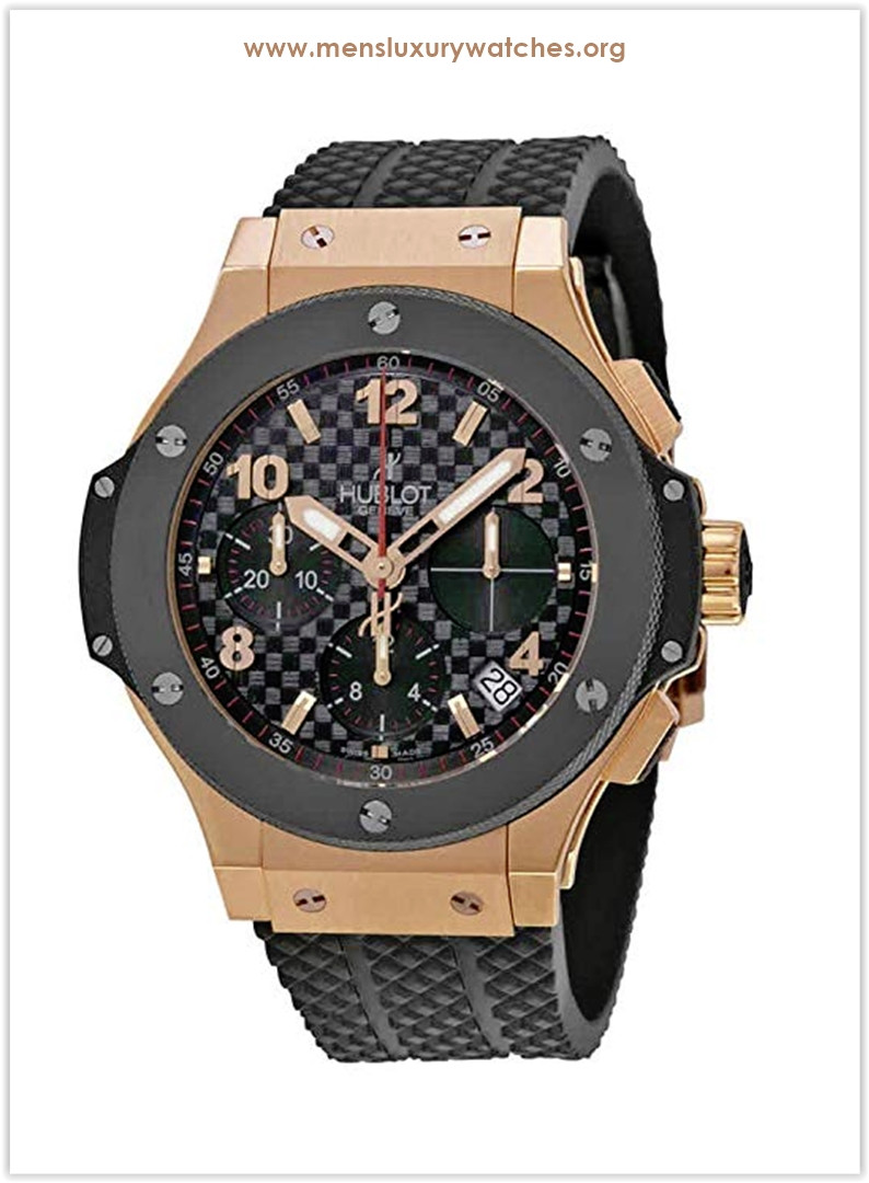 Hublot Big Bang Automatic Black Checker Pattern Dial Black Rubber Men's Watch Price