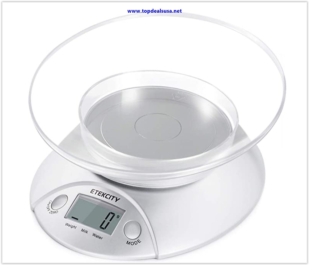 Etekcity Food Scale with Bowl, Digital Kitchen Weight for Cooking