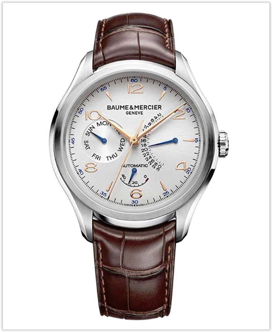 Baume & Mercier Clifton Retrograde Date Mens Automatic Watch best price