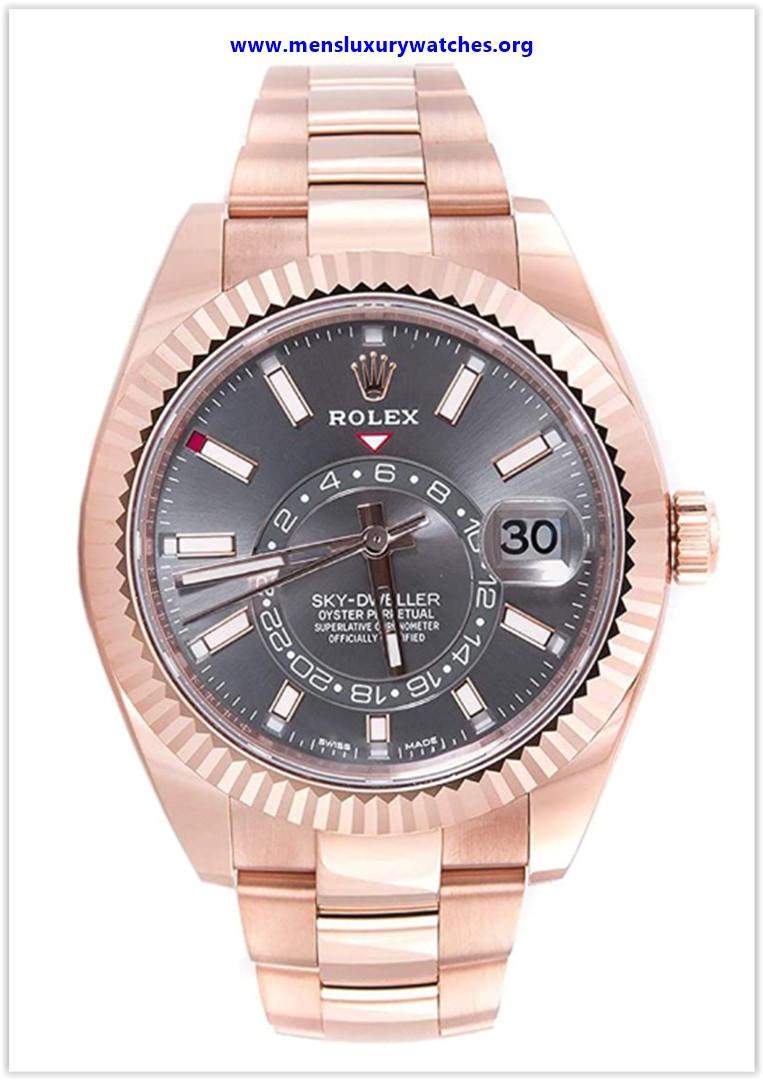 Best buy Rolex Sky-Dweller Sundust Dial 18kt Everose Gold Men's Watch