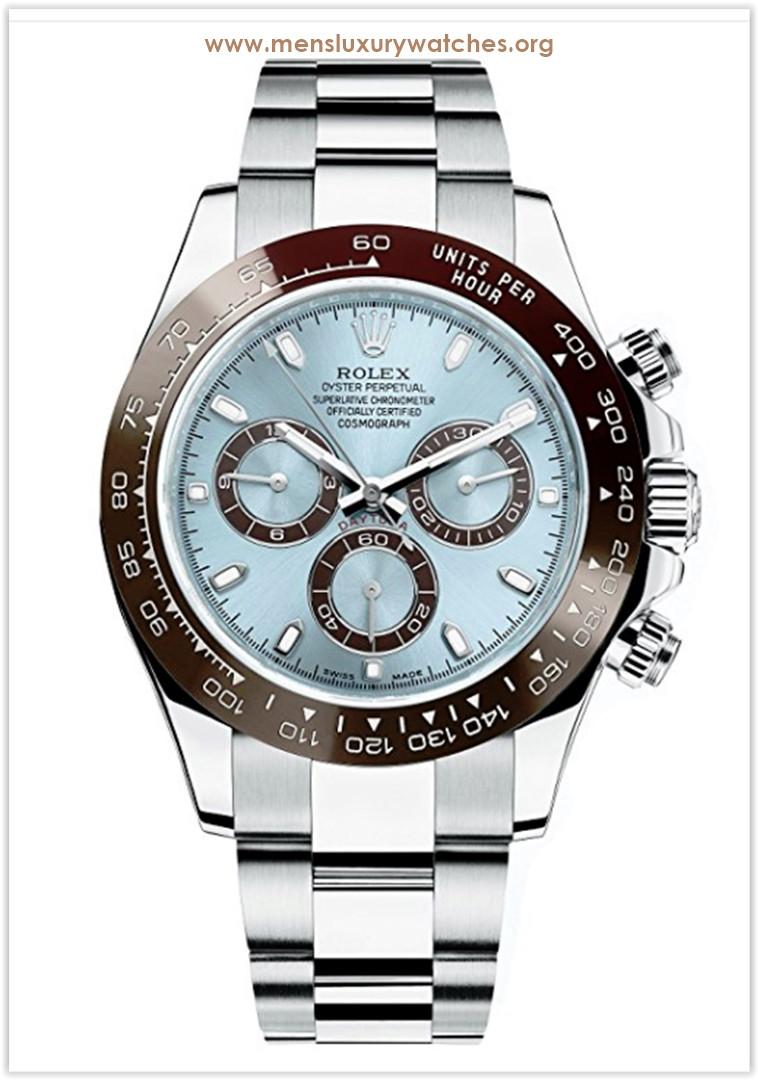 Rolex Daytona Platinum Watch Ice Blue Ceramic Men's Watch price