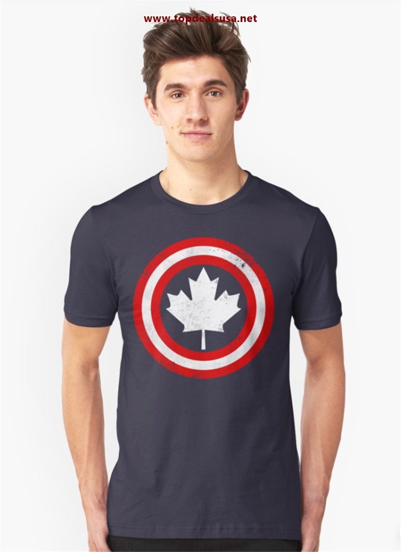 Captain Canada (White Leaf) Slim Fit T-Shirt best buy