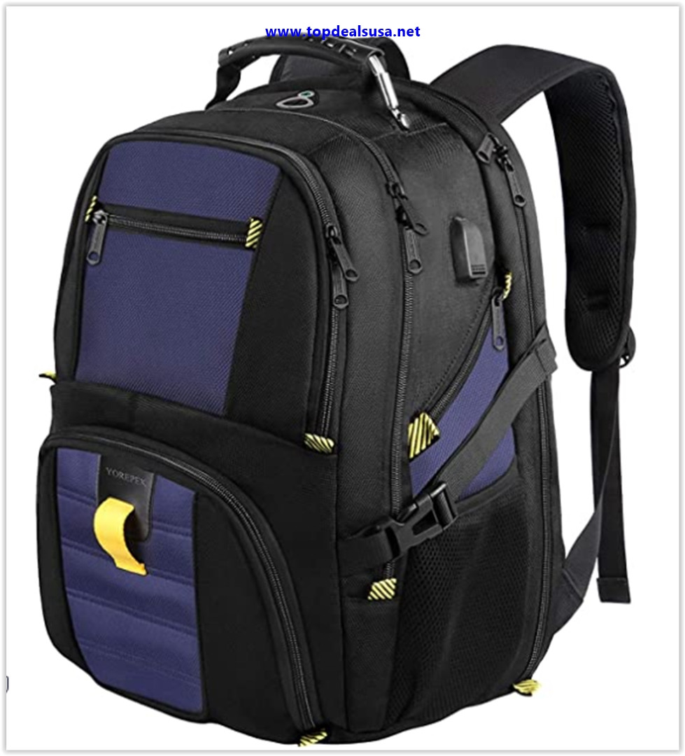 Best buy School Backpack, Travel Laptop Backpack with USB Charging Port