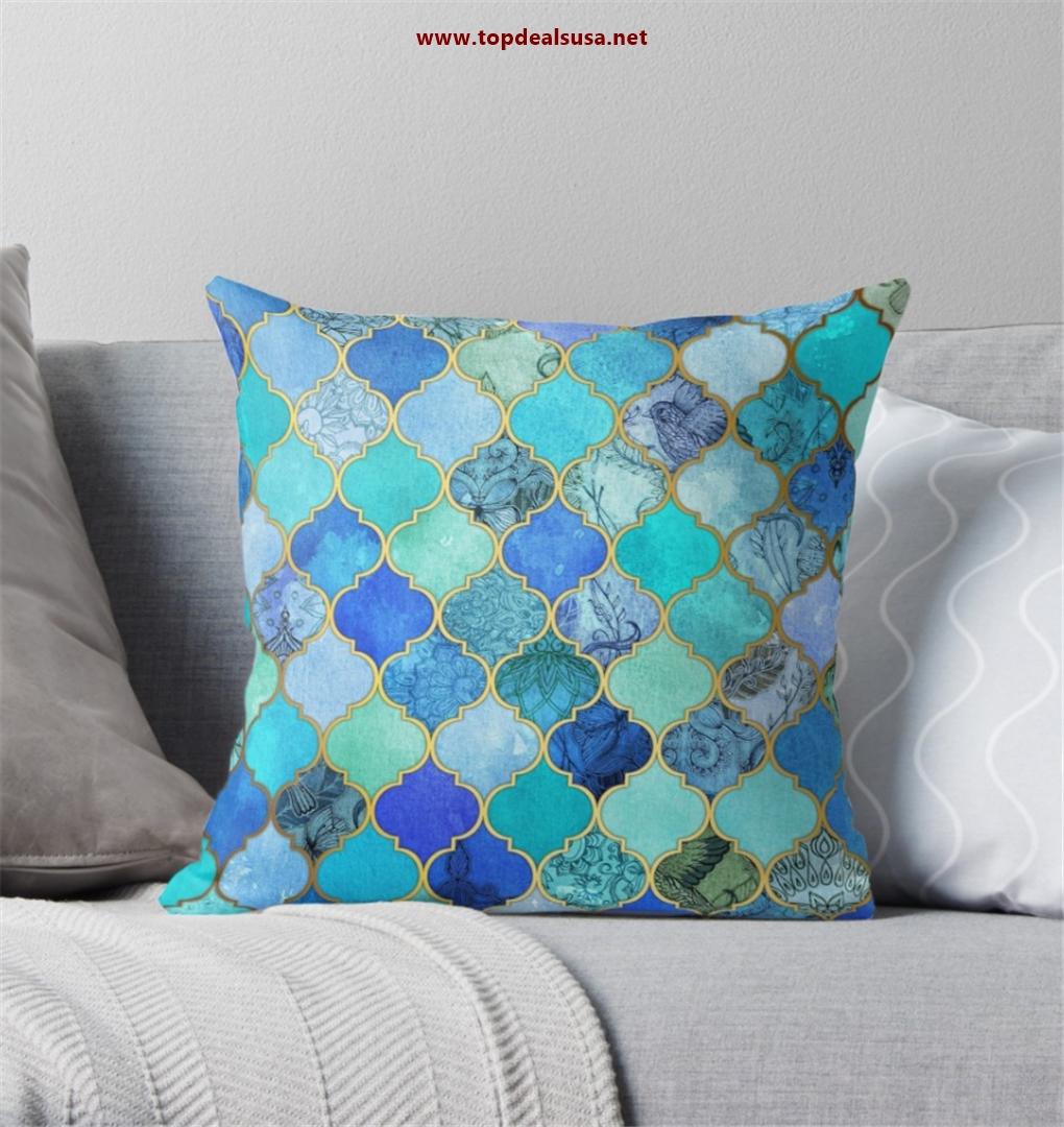 Cobalt Blue, Aqua & Gold Decorative Moro