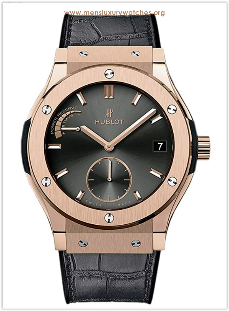 Hublot 18ct Rose Gold Classic Fusion Power Reserve 45mm Men's Watch Price