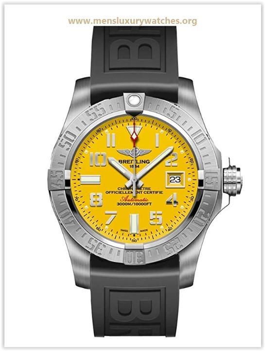 Breitling Avenger II Seawolf Yellow Dial Men's Watch  Price May 2019
