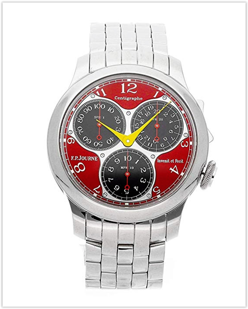 F.P. Journe Centigraphe Mechanical Red Dial Mens Watch Centigraphe Souverain