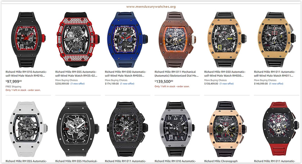 Top 10 Certified Pre-Owned Richard Mille Watches on Amazon