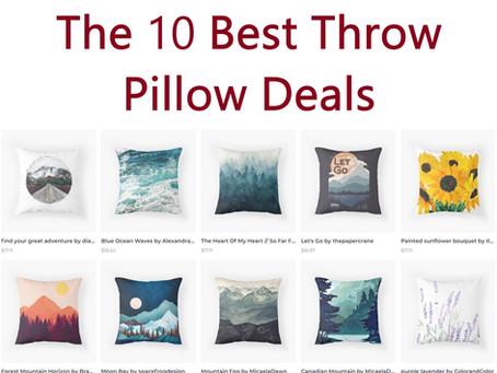 The 10 Best Throw Pillow Deals