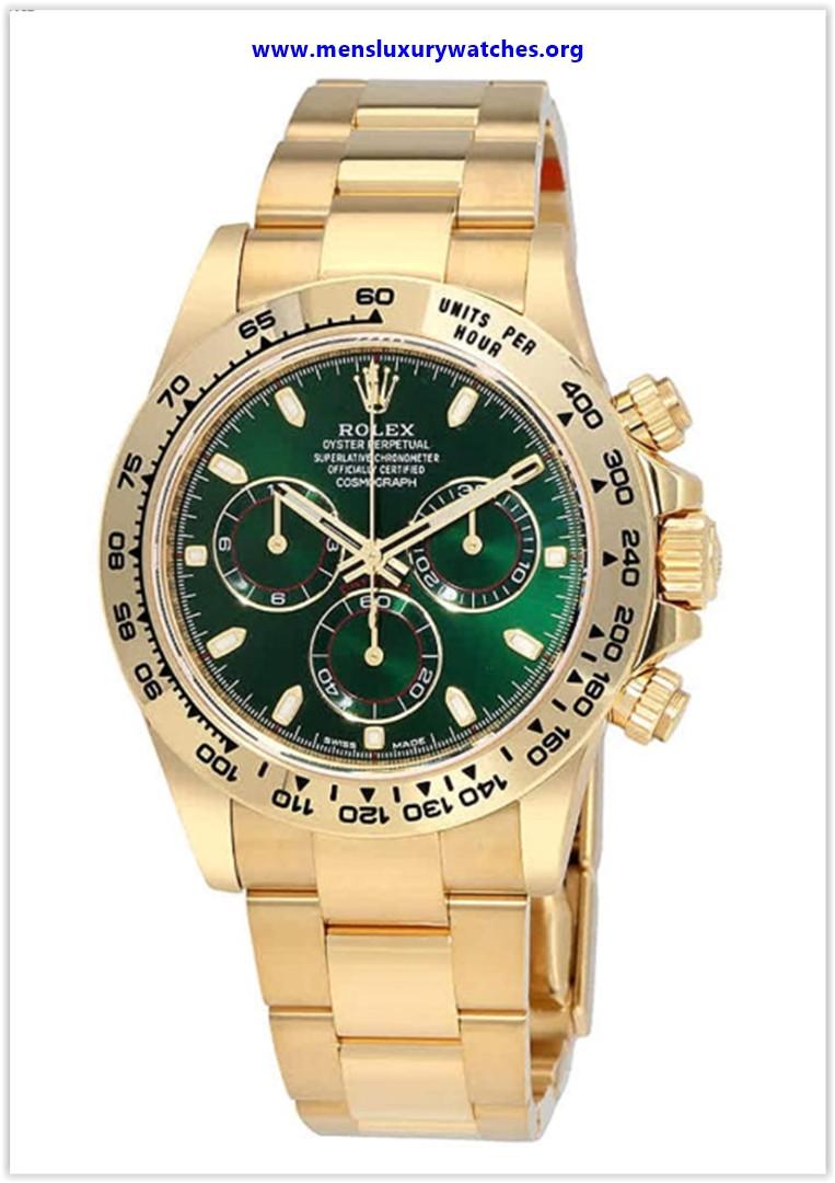 Best buy Rolex Cosmograph Daytona Green Dial 18K Yellow Gold Oyster Men's Watch
