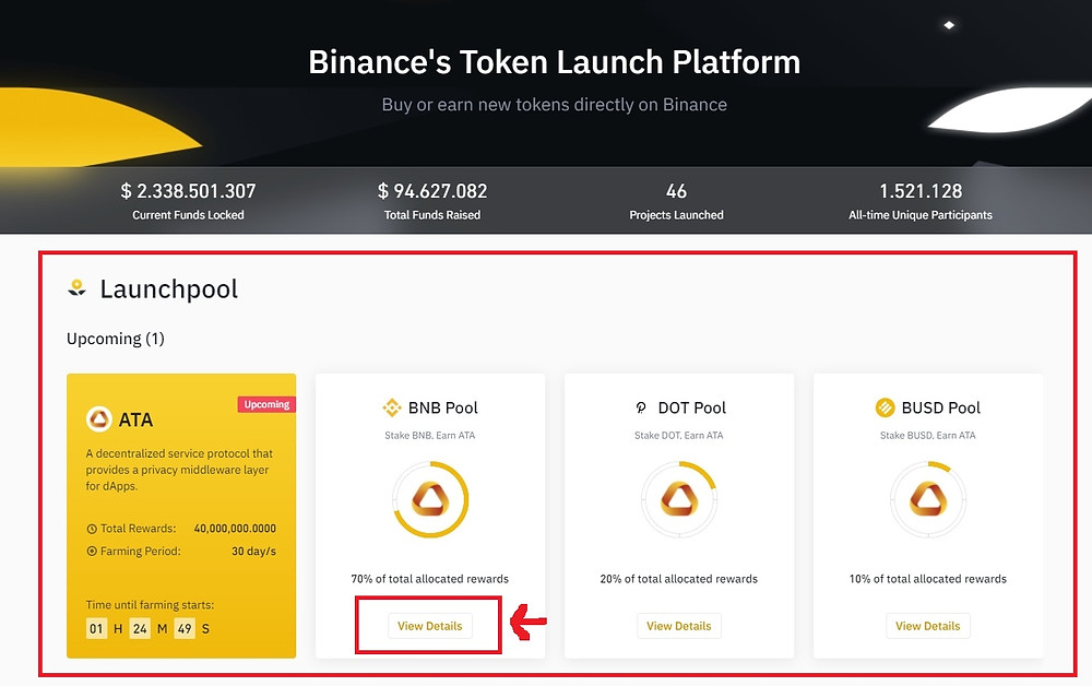 How to buy and stake Automata Network (ATA Coin) on Binance in the UK step 1