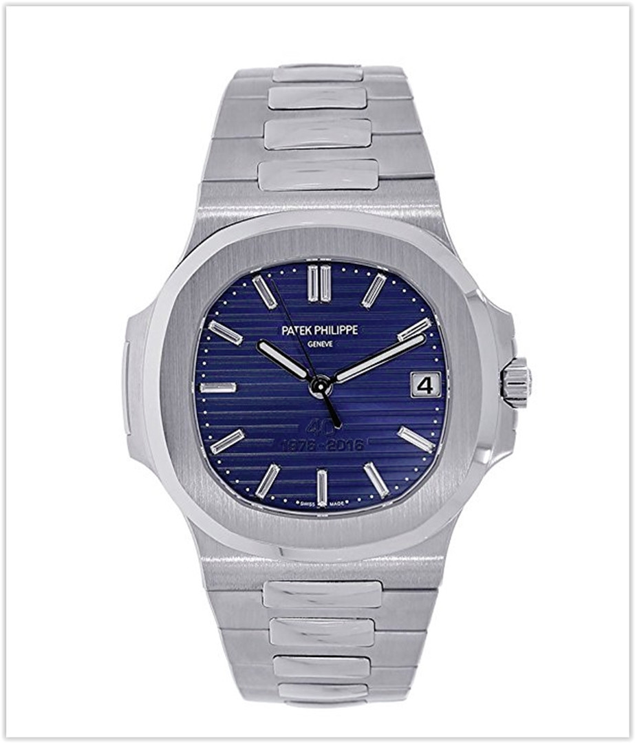 Patek Philippe Nautilus 40mm Platinum 40th Anniversary Watch