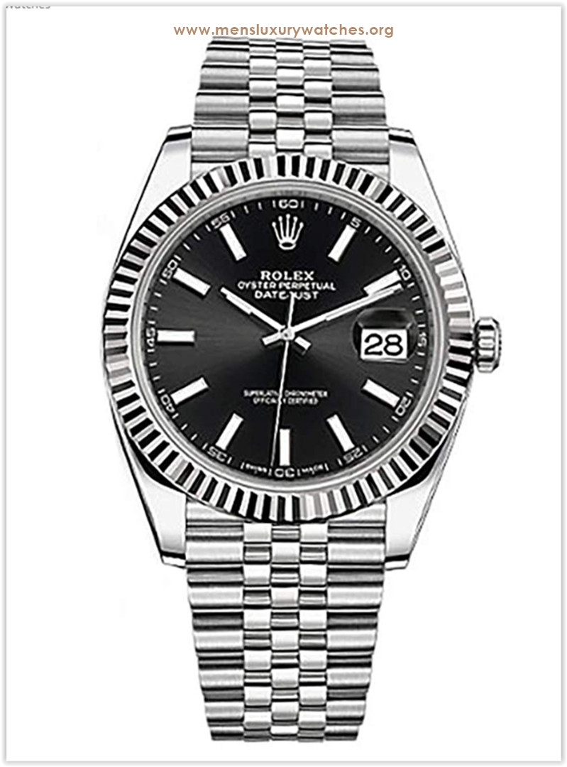 Rolex Datejust 41 Black Dial Stainless Steel Men's Watch the best price