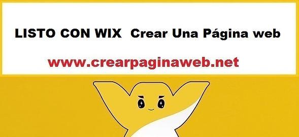 LISTO CON WIX Crear Una Página web