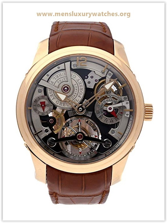 Greubel Forsey Tourbillon Mechanical Collection Skeletonized Dial Men's Watch