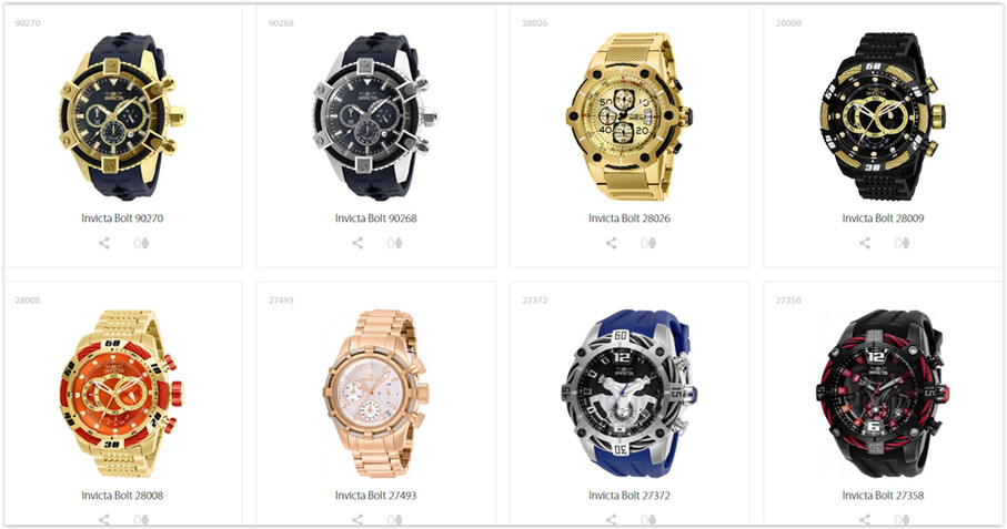 The Invicta Online Watch Store