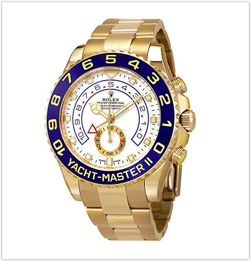 Rolex Yacht-Master II Automatic White Dial Men's 18kt Yellow Gold Oyster Watch best price