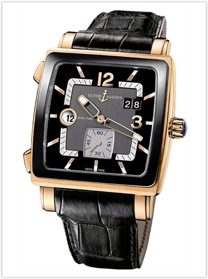 Ulysse Nardin Quadrato Dual Time Men's Watch Price