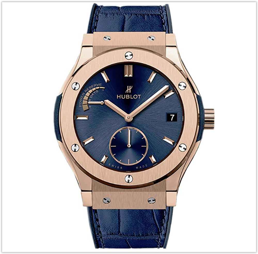Hublot 18ct Rose Gold Classic Fusion Power Reserve Men's Watch buy online
