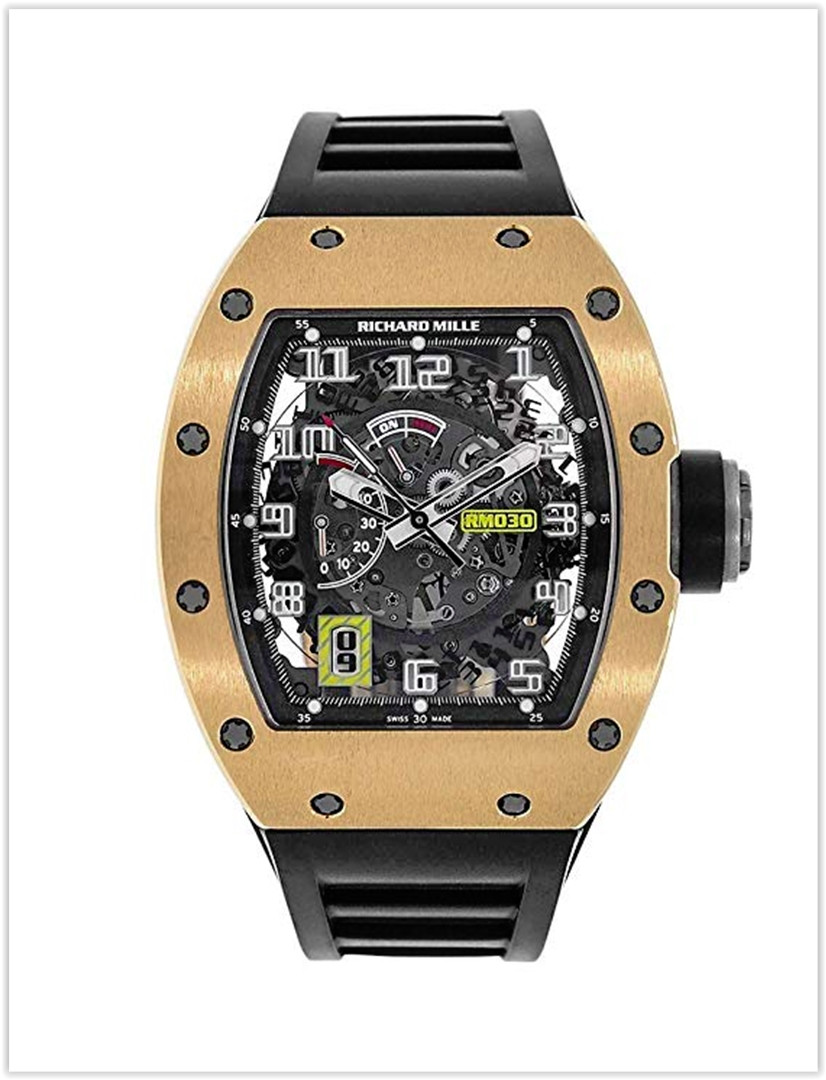 Richard Mille RM 030 Rose Gold Automatic with Declutchable Rotor Men's Watch Price