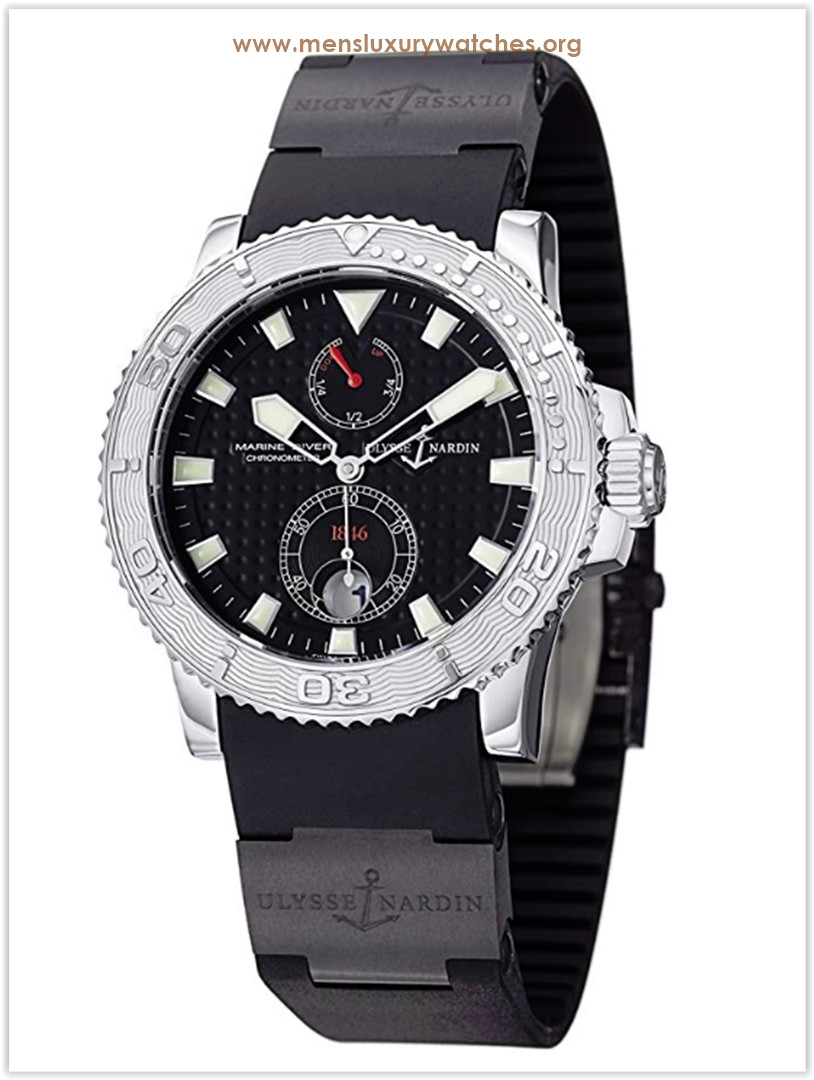 Ulysse Nardin Maxi Marine Diver Chronometer Automatic Black Rubber Strap Men's Watch the best price
