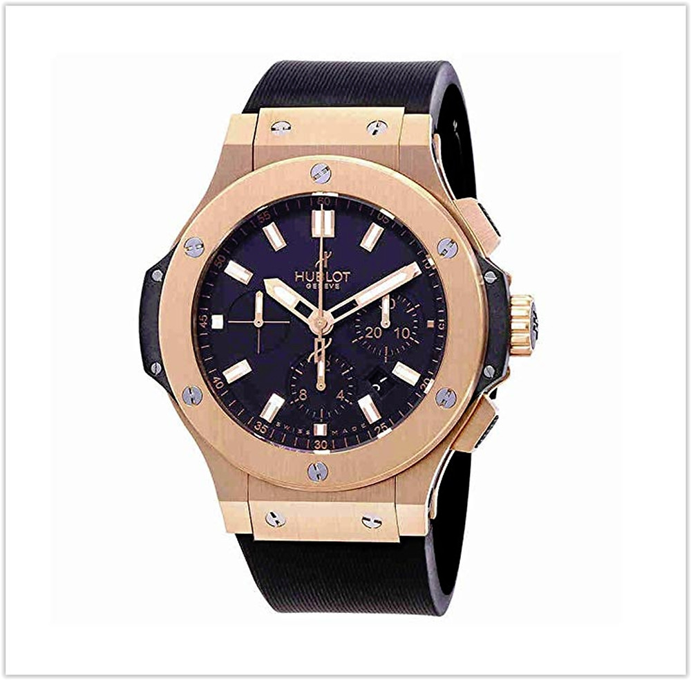 Hublot Big Bang Black Dial 18kt Rose Gold Mens Watch buy online