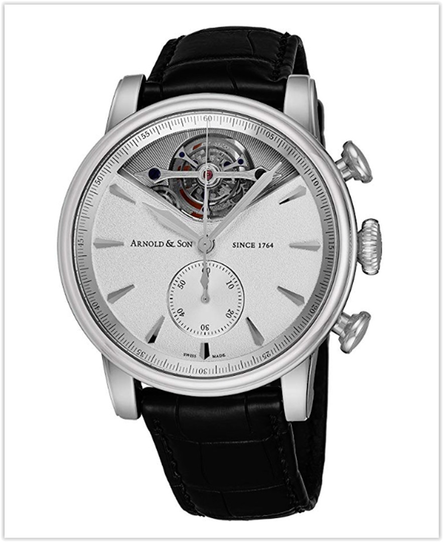 Arnold & Son Royal Collection TEC1 Mens Automatic Chronograph Tourbillon Watch - 45mm Silver Face best price
