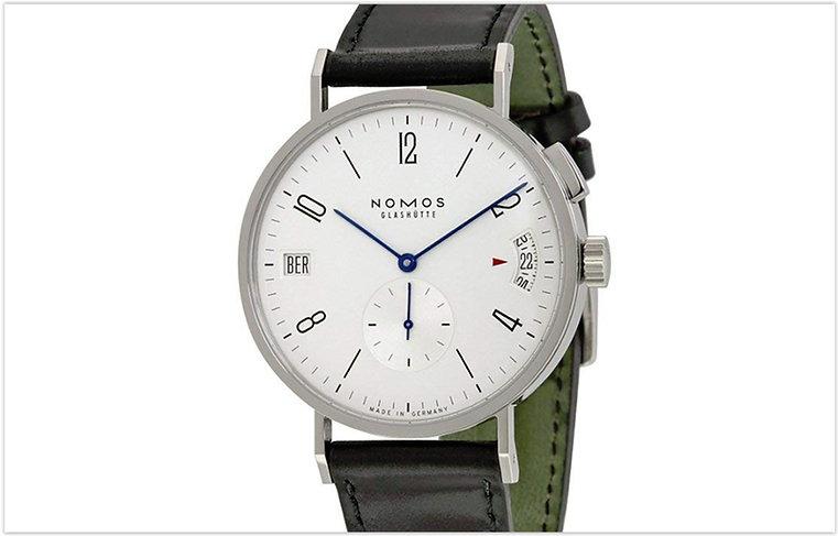 Nomos Tangomat GMT White Dial Leather