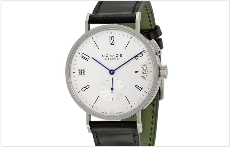 Nomos Tangomat GMT White Dial Leather