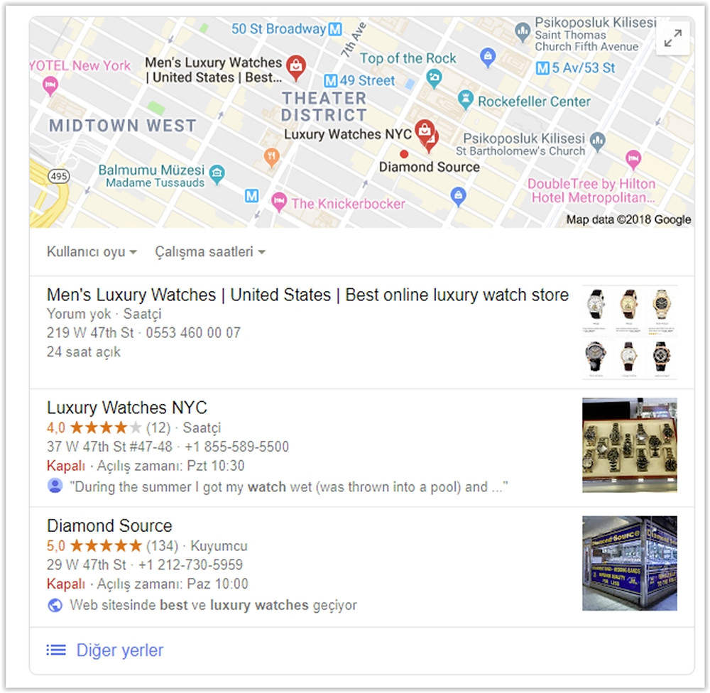 Web site veya işletmenizi Google yerel aramalarda ilk sayfaya nasıl çıkarırsınız