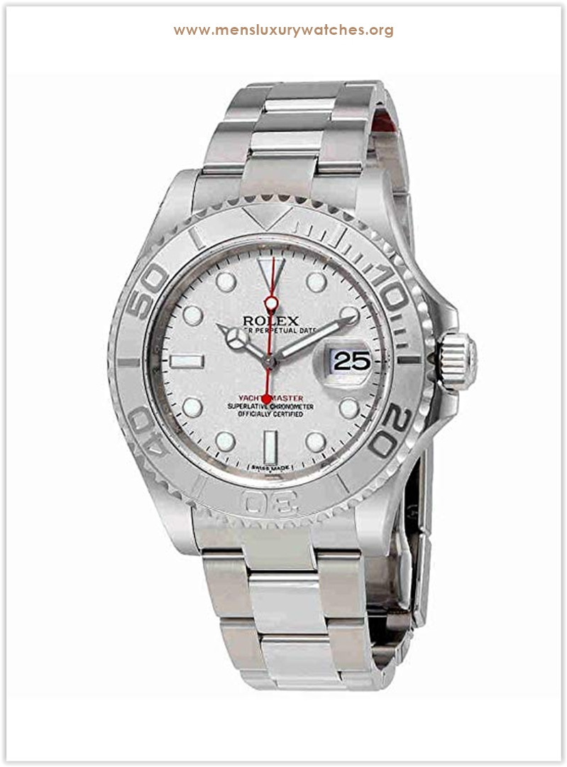 Rolex Yacht-Master Platinum Dial Steel and Platinum Men's Watch the best price