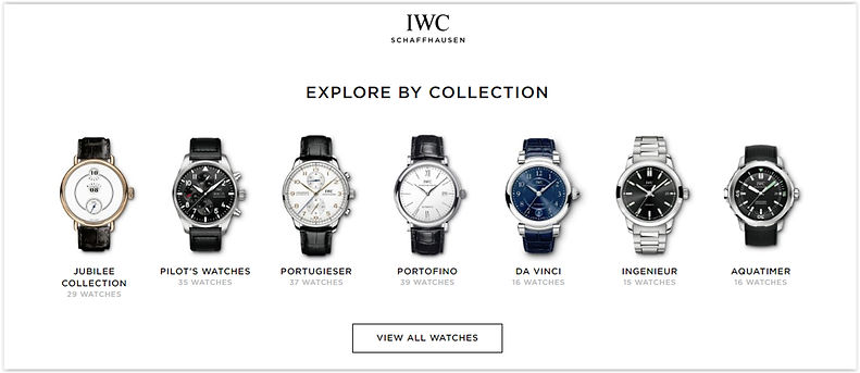 IWC Luxury Wrist Watches Buy Online