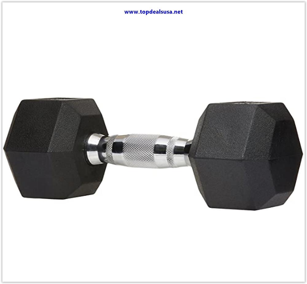 Best buy AmazonBasics Rubber Encased Hex Hand Dumbbell Weight