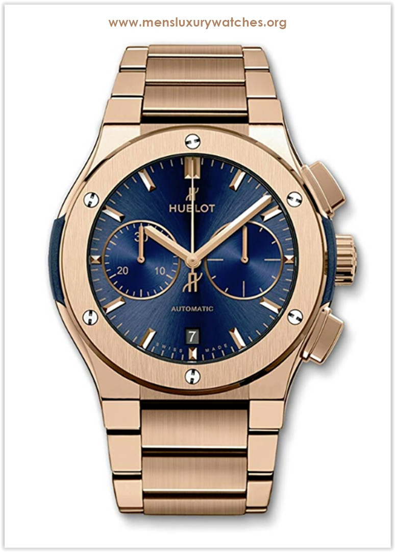 Hublot Classic Fusion Chronograph 45mm Men's Watch Rose Gold Blue Price