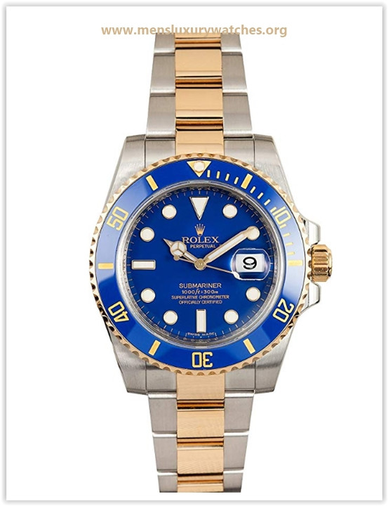 Rolex Submariner Stainless Steel Yellow Gold Watch Blue Ceramic Watch Price May 2019